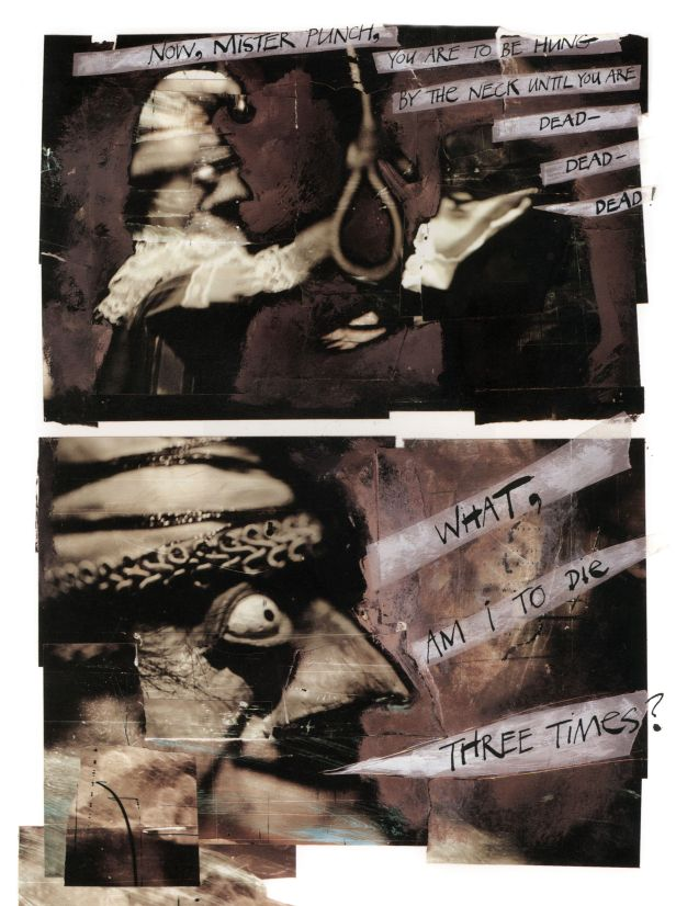 The Tragical Comedy or Comical Tragedy of Mr Punch, by Neil Gaiman and Dave McKean, 1994(c) Dave McKean