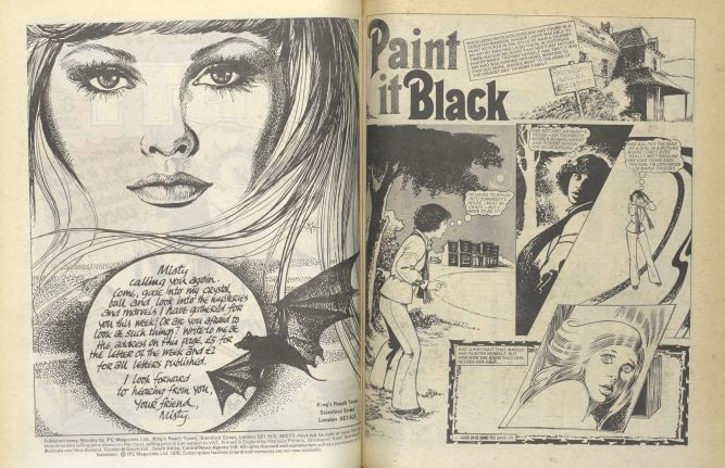 ty – well known 1978 dark female comic book of supernatural and horror stories. Photography (c) British Library Board